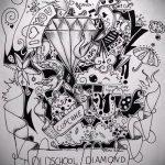 Пример эскиза для татуировки бриллиант - вариант - tatufoto.ru 29