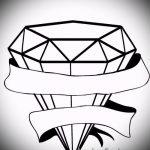 Пример эскиза для татуировки бриллиант - вариант - tatufoto.ru 30