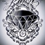 Пример эскиза для татуировки бриллиант - вариант - tatufoto.ru 37
