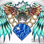 Пример эскиза для татуировки бриллиант - вариант - tatufoto.ru 38