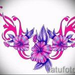 Пример эскиза для тату на пояснице - вариант - tatufoto.ru - 3