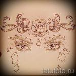 Пример эскиза для тату на пояснице - вариант - tatufoto.ru - 14