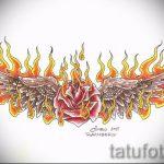 Пример эскиза для тату на пояснице - вариант - tatufoto.ru - 29