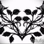 Пример эскиза для тату на пояснице - вариант - tatufoto.ru - 32