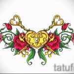 Пример эскиза для тату на пояснице - вариант - tatufoto.ru - 33