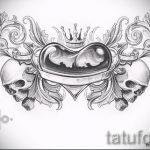 Пример эскиза для тату на пояснице - вариант - tatufoto.ru - 34