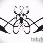 Пример эскиза для тату на пояснице - вариант - tatufoto.ru - 45