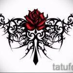 Пример эскиза для тату на пояснице - вариант - tatufoto.ru - 57