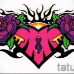 Пример эскиза для тату на пояснице - вариант - tatufoto.ru - 64