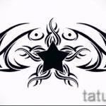 Пример эскиза для тату на пояснице - вариант - tatufoto.ru - 77