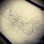 Пример эскиза для тату на пояснице - вариант - tatufoto.ru - 81