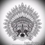 Пример эскиза тату энот для нанесения татуировки - tatufoto.ru - 42