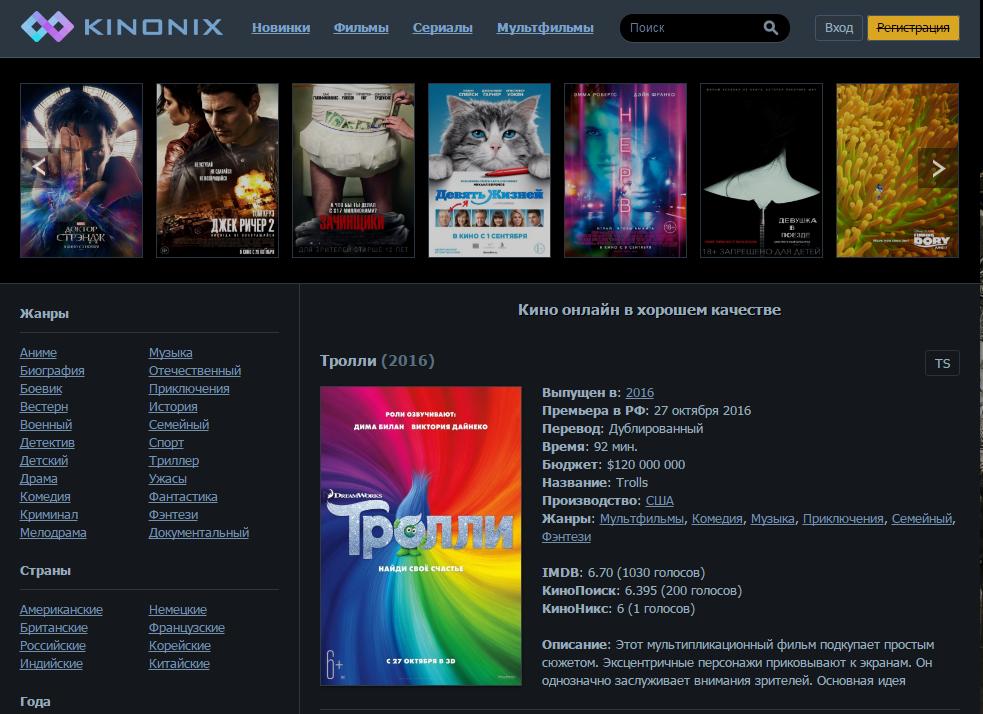 Смотреть хороший фильм в онлайне без навязчивой рекламы – kinonix - фото 1