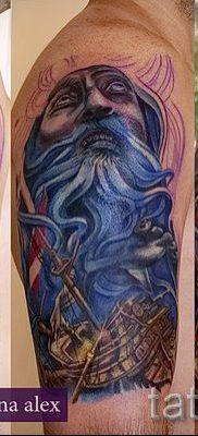 Тату Посейдон – фото для статьи про значение татуировки Посейдон – tatufoto.ru – 16