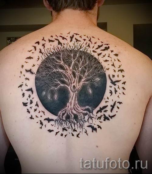 Тату дерево жизни фото для статьи про значение татуировки 10