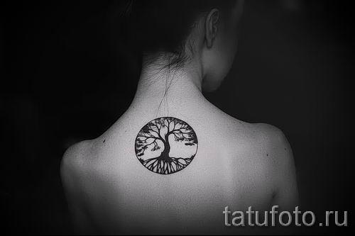 Тату дерево жизни фото для статьи про значение татуировки 13