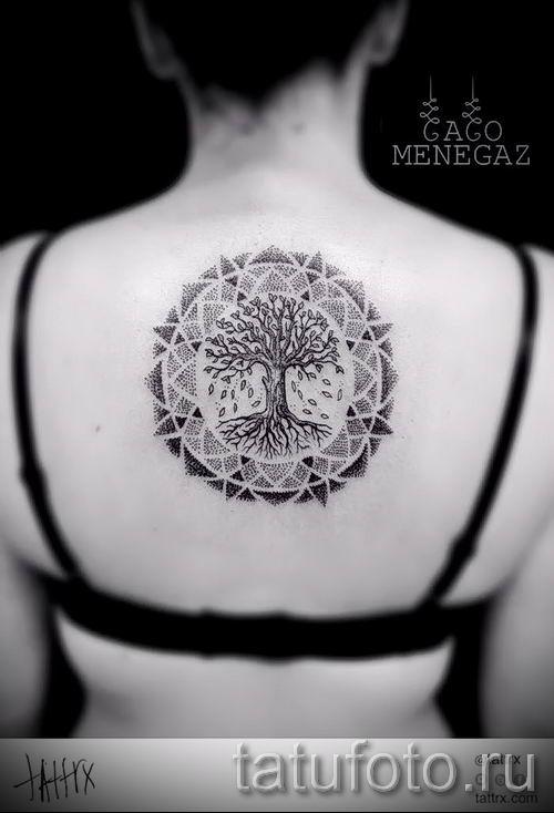 Тату дерево жизни фото для статьи про значение татуировки 17