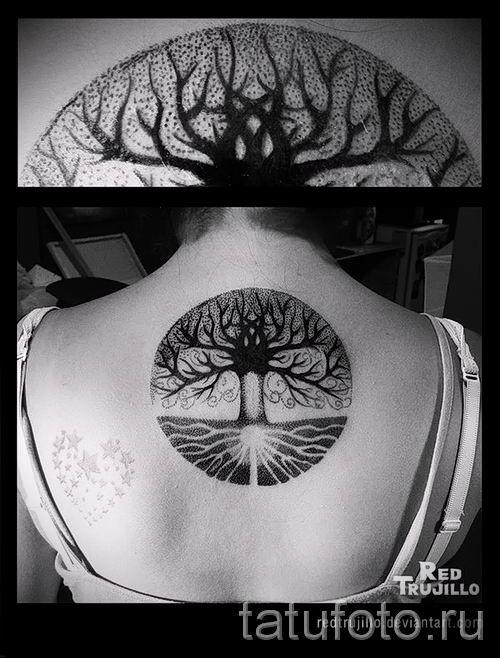 Тату дерево жизни фото для статьи про значение татуировки 18
