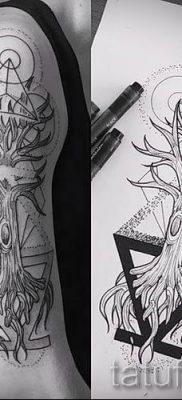 Тату дерево жизни фото для статьи про значение татуировки  23