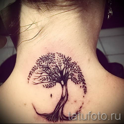 Тату дерево жизни фото для статьи про значение татуировки 25