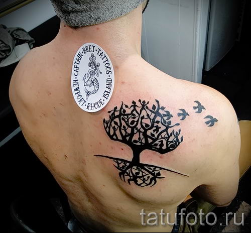 Тату дерево жизни фото для статьи про значение татуировки 29