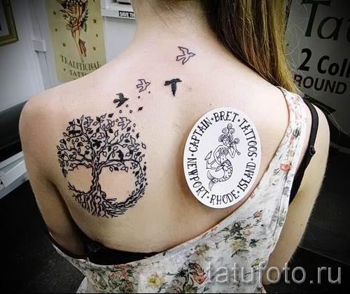 Тату дерево жизни фото для статьи про значение татуировки 36