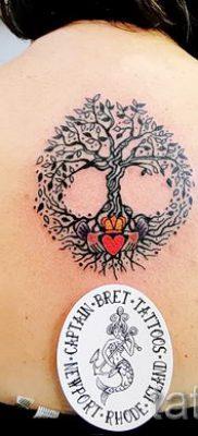 Тату дерево жизни фото для статьи про значение татуировки  38
