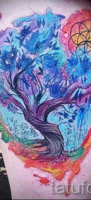 Тату дерево жизни фото для статьи про значение татуировки  40