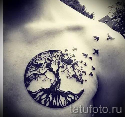 Тату дерево жизни фото для статьи про значение татуировки 45