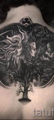 Тату дерево жизни фото для статьи про значение татуировки  49
