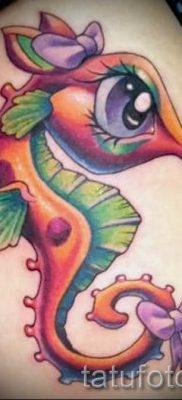 Тату морской конек – фото пример готовой тату для статьи про значение 18