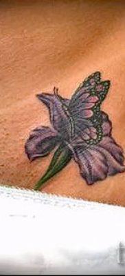 Фото пример тату ирис для статьи про значение татуировки с ирисом 24
