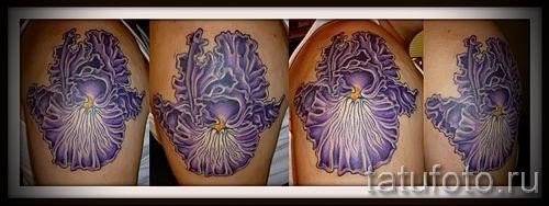 Фото пример тату ирис для статьи про значение татуировки с ирисом 29