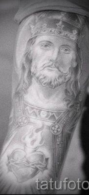 Фото тату Иисуса Христа для статьи про значение татуировки Иисус – tatufoto.ru – 7