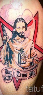 Фото тату Иисуса Христа для статьи про значение татуировки Иисус – tatufoto.ru – 37