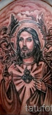 Фото тату Иисуса Христа для статьи про значение татуировки Иисус – tatufoto.ru – 41
