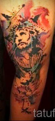 Фото тату Иисуса Христа для статьи про значение татуировки Иисус – tatufoto.ru – 56