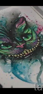 Фото тату Чеширский кот для статьи про значение рисунка татуировки – tatufoto.ru – 12