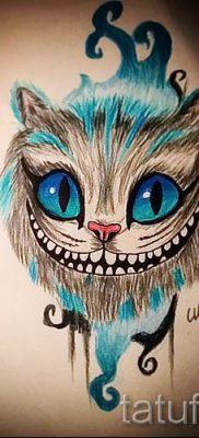 Фото тату Чеширский кот для статьи про значение рисунка татуировки – tatufoto.ru – 14