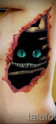 Фото тату Чеширский кот для статьи про значение рисунка татуировки – tatufoto.ru – 16