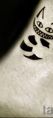 Фото тату Чеширский кот для статьи про значение рисунка татуировки – tatufoto.ru – 18