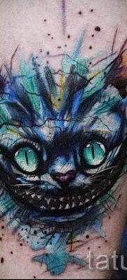 Фото тату Чеширский кот для статьи про значение рисунка татуировки – tatufoto.ru – 19