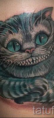 Фото тату Чеширский кот для статьи про значение рисунка татуировки – tatufoto.ru – 20
