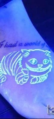 Фото тату Чеширский кот для статьи про значение рисунка татуировки – tatufoto.ru – 28