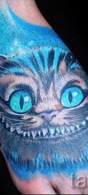 Фото тату Чеширский кот для статьи про значение рисунка татуировки – tatufoto.ru – 29