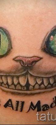 Фото тату Чеширский кот для статьи про значение рисунка татуировки – tatufoto.ru – 30