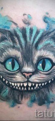 Фото тату Чеширский кот для статьи про значение рисунка татуировки – tatufoto.ru – 31