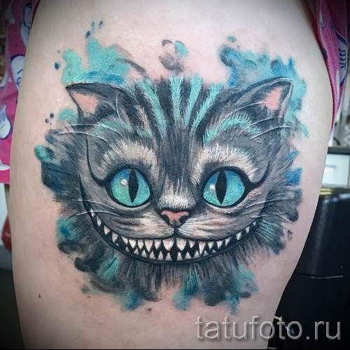 Эскизы тату с чеширским котом