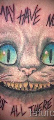 Фото тату Чеширский кот для статьи про значение рисунка татуировки – tatufoto.ru – 33