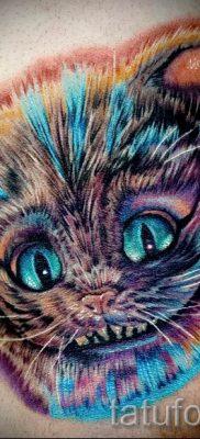 Фото тату Чеширский кот для статьи про значение рисунка татуировки – tatufoto.ru – 34